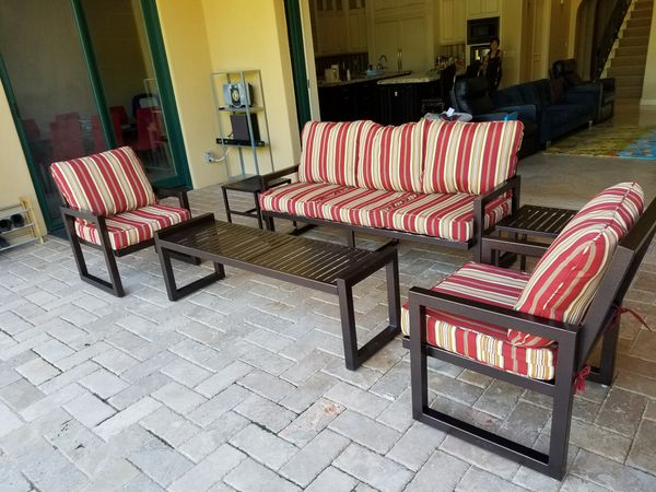 Iron Patio Furniture Custom Set Complete Set Sunbrella