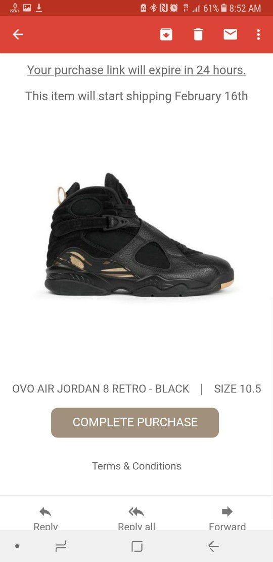 sports shoes ed7c8 59274 Nike Air Jordan 8 VIII Retro OVO size 10.5 for Sale in Woodbridge Township,  NJ - OfferUp