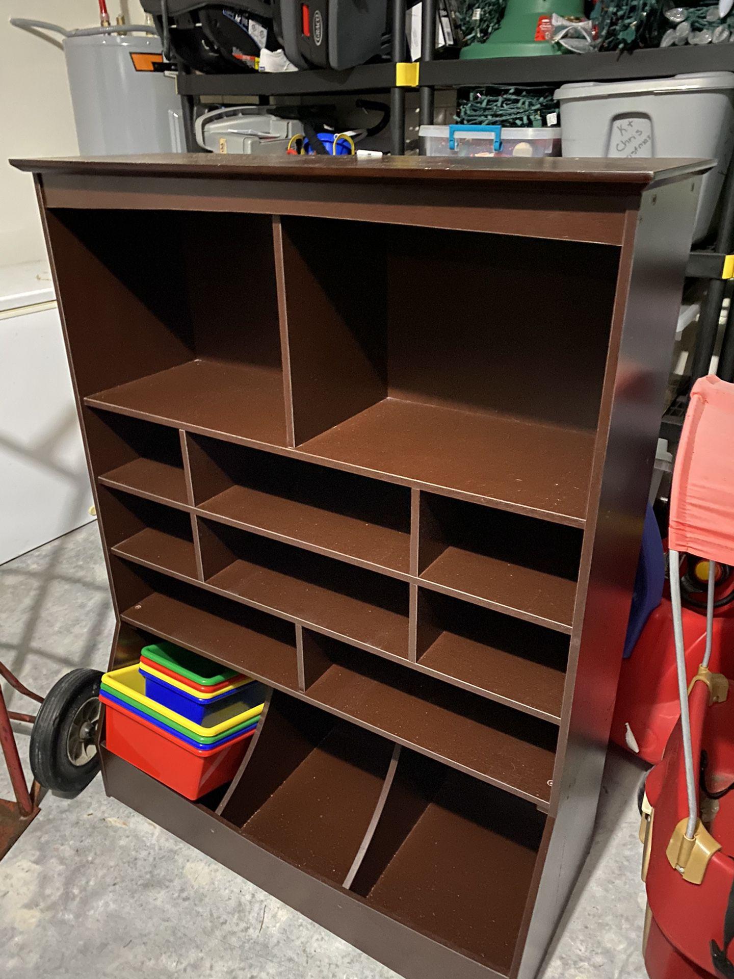 Kid Craft Wooden Wall Storage Unit