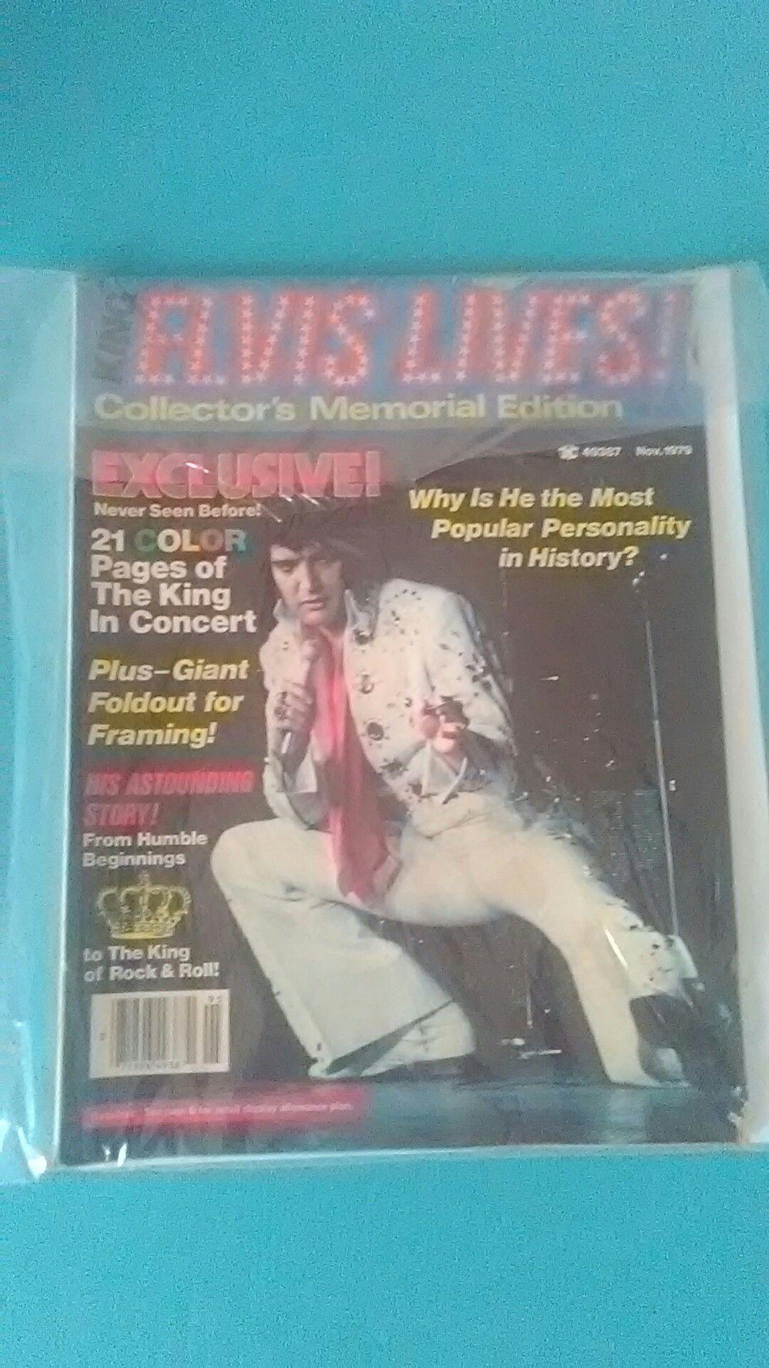 Elvis magazine with poster