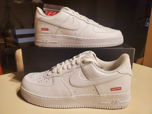 Photo Nike Air Force 1 x SUPREME WHITE Brand New and Untouched SIZE 12