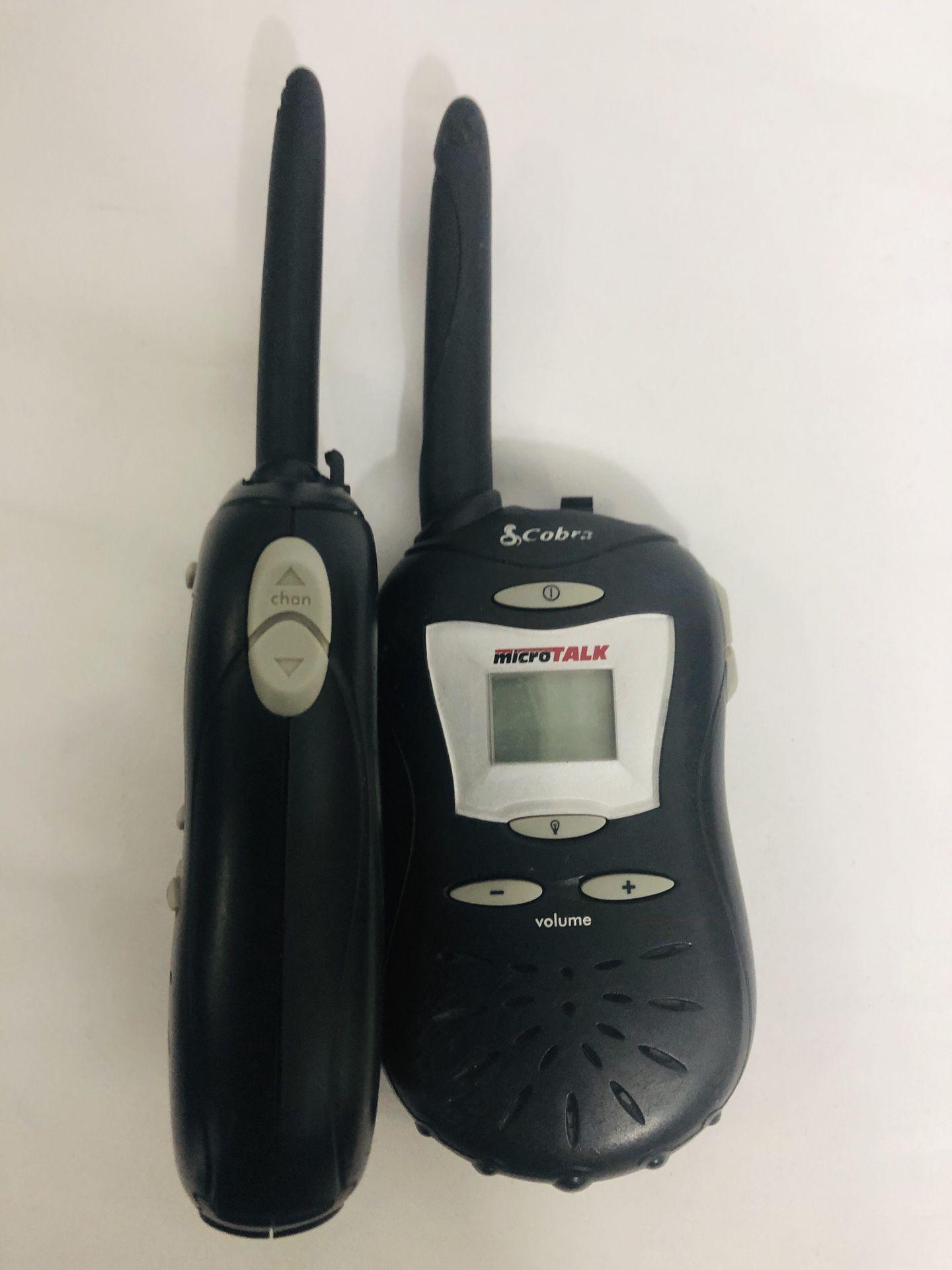 Cobra micro talk walkie talkie radios set 2 way survival