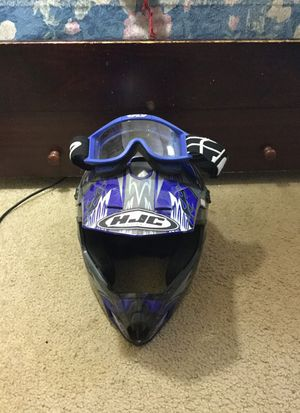 Dirt bike helmet and goggles $125 for Sale in Fort Washington, MD