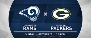 Rams vs Packers 2 tickets for sale on the 40 yard line for Sale in Los Angeles, CA