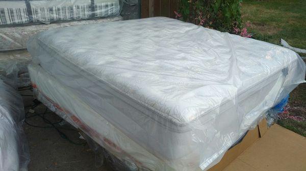 King Size Mattress And Box Springs Pillow Top Colchon Tamaño King