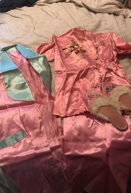Vintage silk pj set