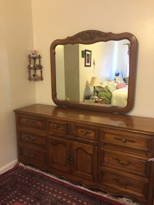Sale moving Beautiful dresser with mirror 71x34 and 19. Bring 2 people and transportation Make an offer for Sale in Washington, DC