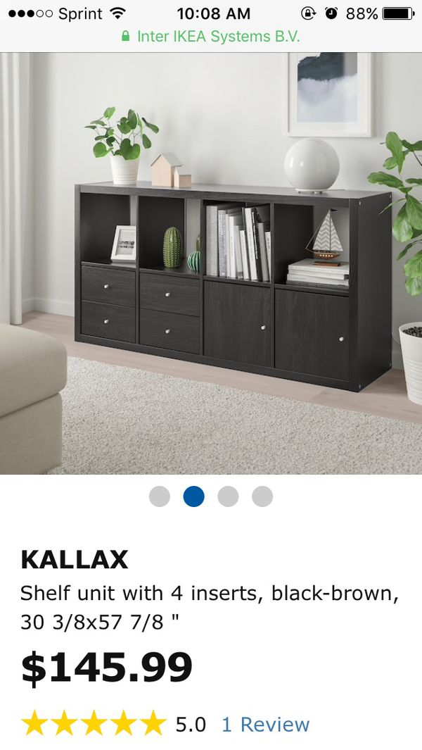 huge selection of bc185 0fe82 Ikea Kallax 2x4 Cube Shelf With Drawer And Door Inserts for Sale in  Richardson, TX - OfferUp
