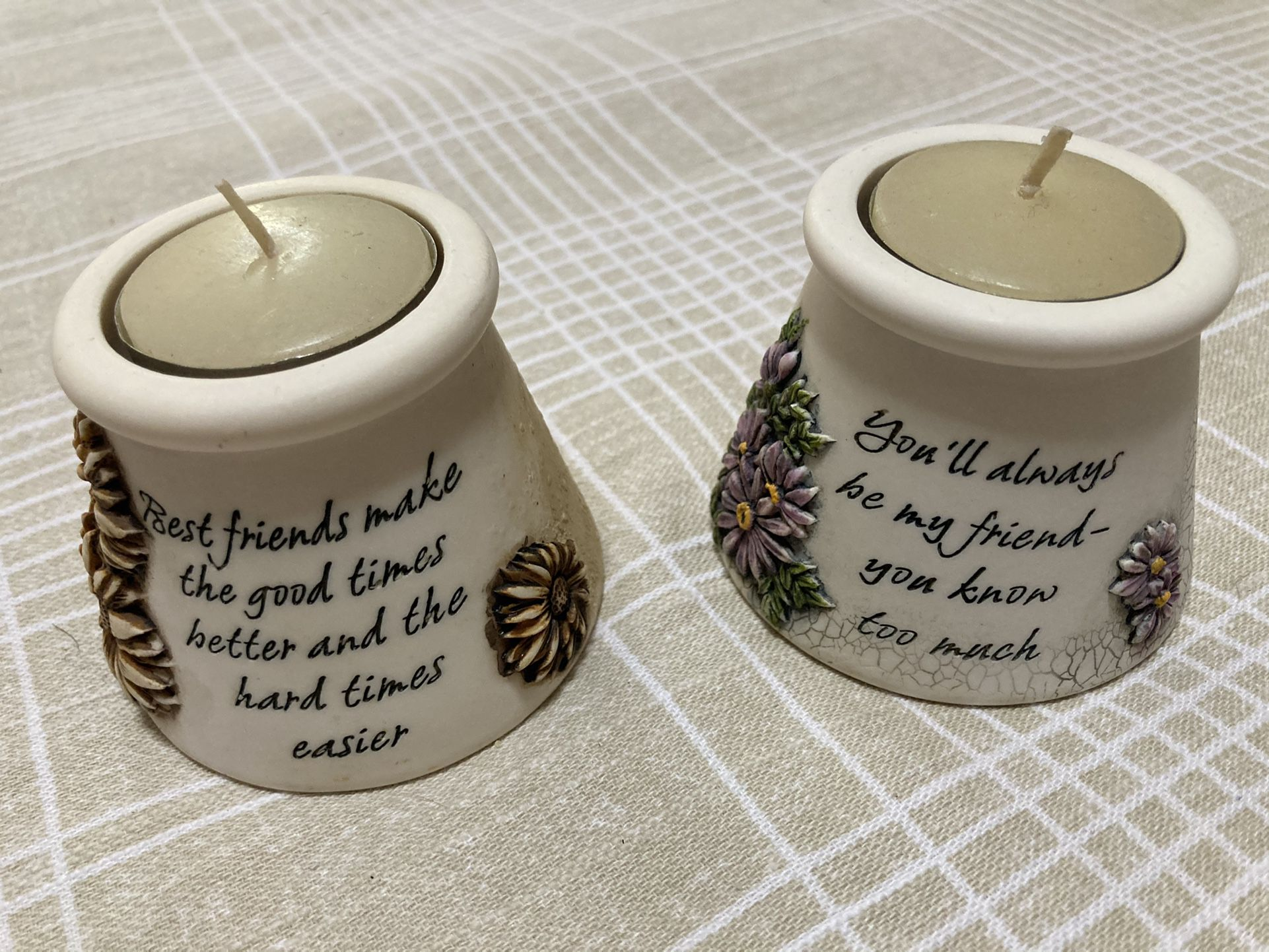 Friendship Candle Holders With Tealight Included
