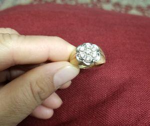 MEN GOLD DAIMOND CLUSTER RING for Sale in Springfield, VA
