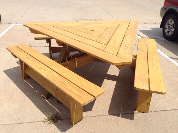 Triangle Picnic Table For Sale In Fort Worth TX OfferUp - Triangle picnic table