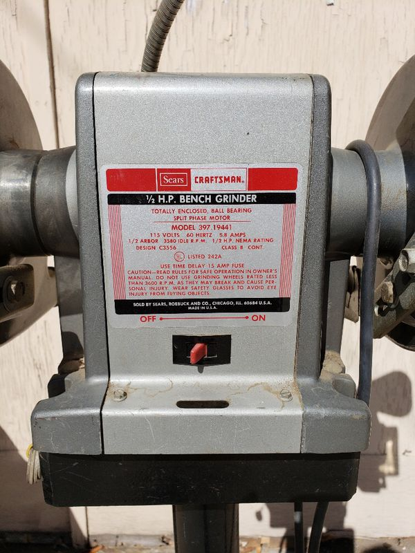 Prime Sears Craftsman Commercial 1 2 Hp Bench Grinder For Sale In Caraccident5 Cool Chair Designs And Ideas Caraccident5Info