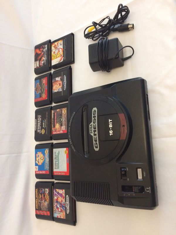 Sega genesis set 2 controllers and 10 games tv hookups for Sale in Katy, TX  - OfferUp
