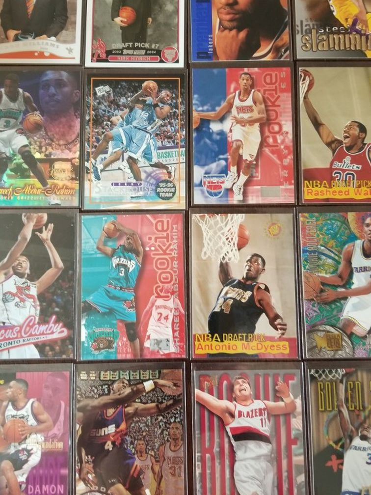 Basketball Cards... 16 Card Rookie Lot.