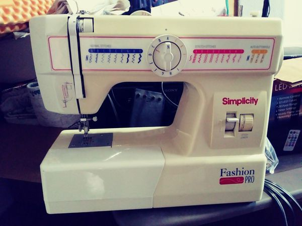 Simplicity Fashion Pro Sewing Machine For Sale In Baton Rouge LA Beauteous Simplicity Fashion Pro Sewing Machine