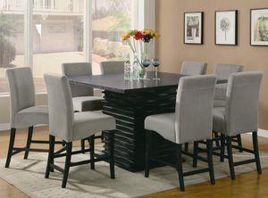 Black Wave Counter Height Dining Table And Chair Set For Sale In Eugene OR