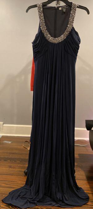 Photo Evening long blue dress