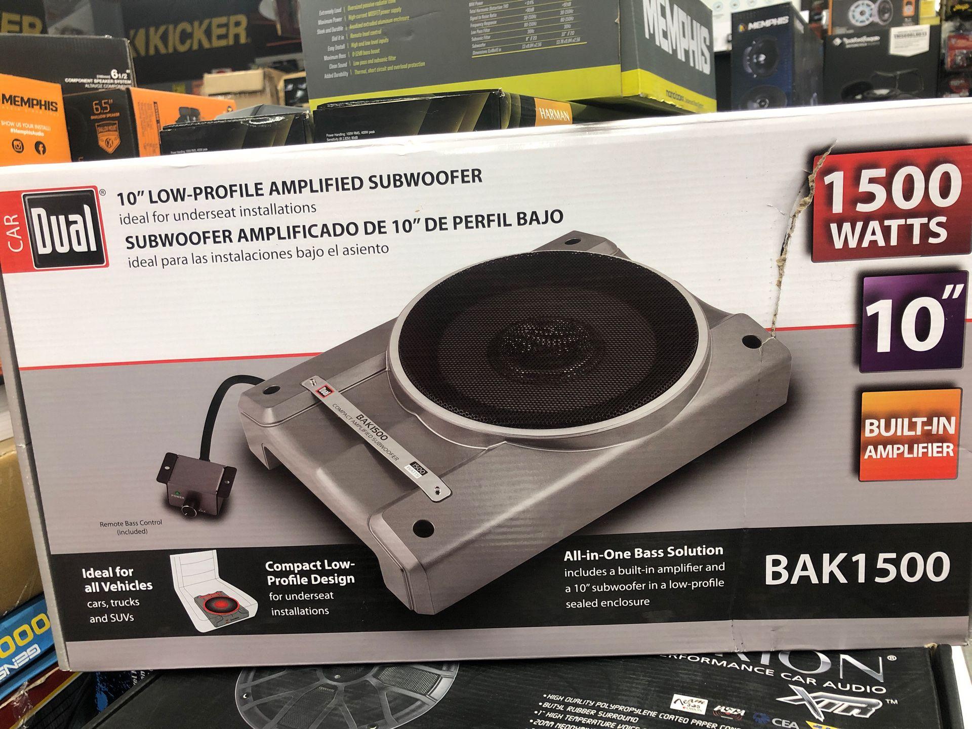 DAk 1500 watts subwoofer and box amplifier