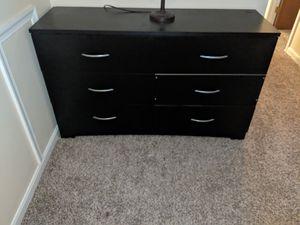6 drawer black dresser for Sale in Bowie, MD
