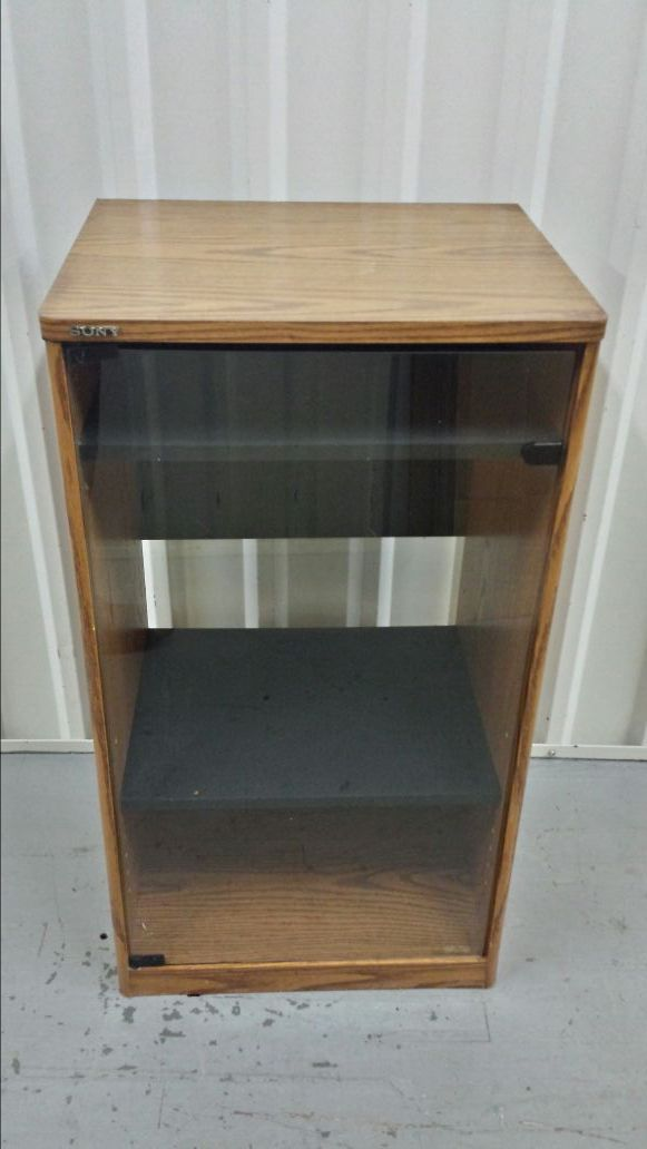 Vintage Sony Stereo Rack System Rack W Glass Door Su S3010