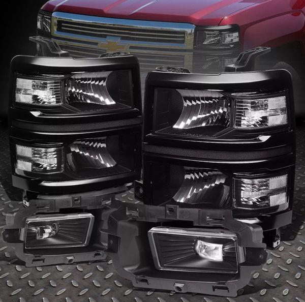 2014-2015 chevy silverado 1500 headlights + led fog lights