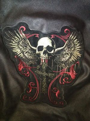 Skull motorcycle patch or entire Vest. for Sale in Detroit, MI