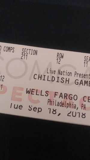 Two tickets to Childish Gambino final tour show for Sale in Philadelphia, PA