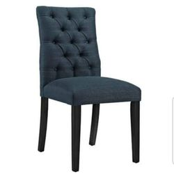 BRAND NEW  Modway Duchess Modern Elegant Button-Tufted Upholstered Fabric Parsons Dining Side Chair in Azure EEI-2231-AZU Thumbnail