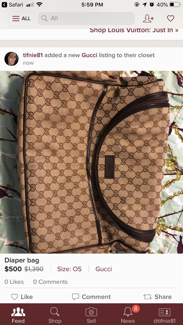 c54b3ab0509 Authentic Gucci Diaper Bag for Sale in Saint Pete Beach