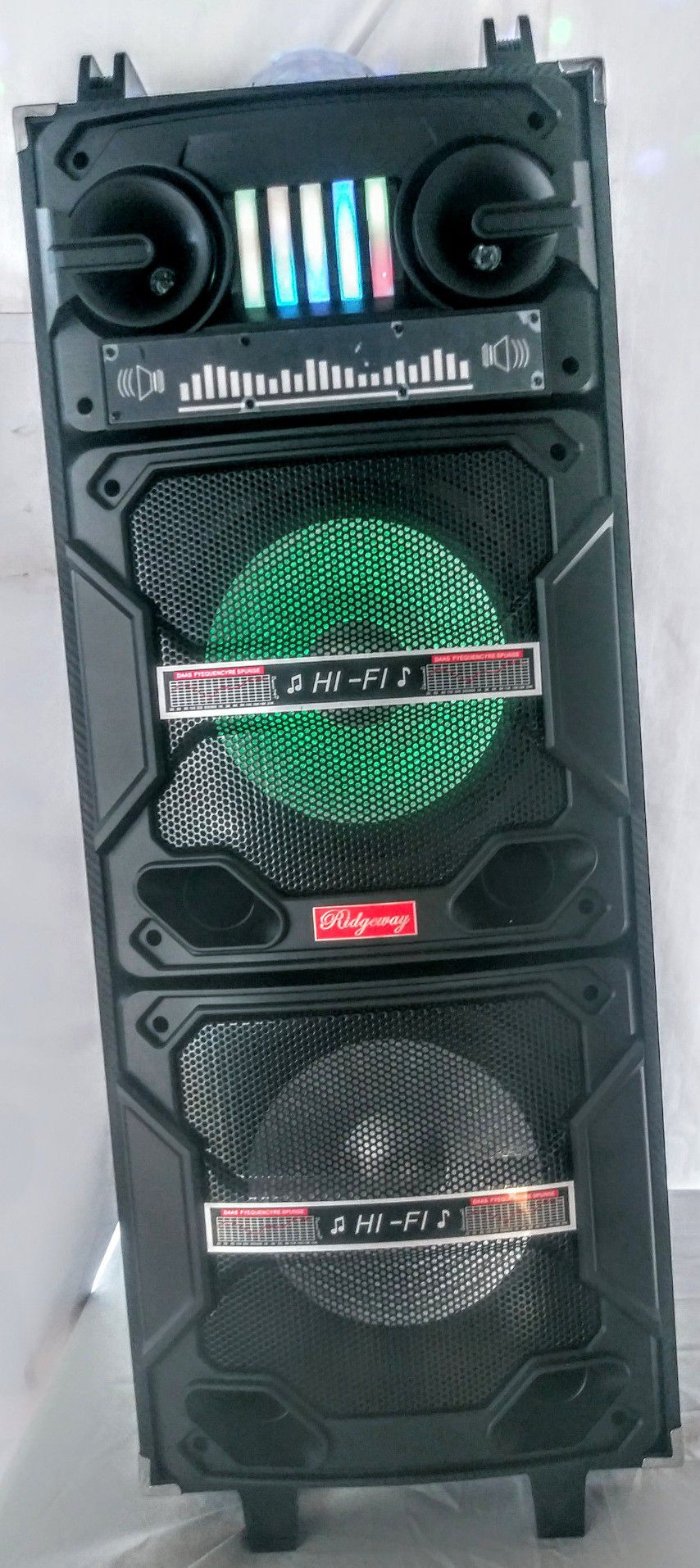 RIDGEWAY./ PORTABLE SPEAKER BLUETOOTH / FMRadio /KARAOKE /USB. TFCARD / MP3 CONTROL REMOTE /  🎤 MICROPHONE INC. (4000W) BATTERY RECARGABLE ( each.