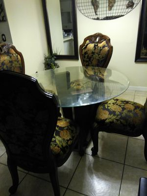 Dining table set and mirror for Sale in Maitland, FL