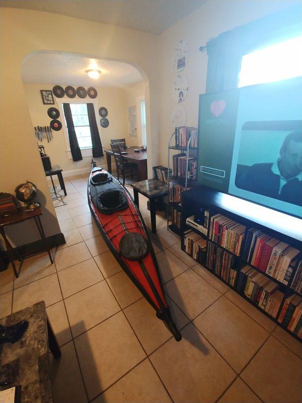 FeatherCraft Klondike 18' Skin-on-Frame Kayak for Sale in Saint Petersburg,  FL - OfferUp