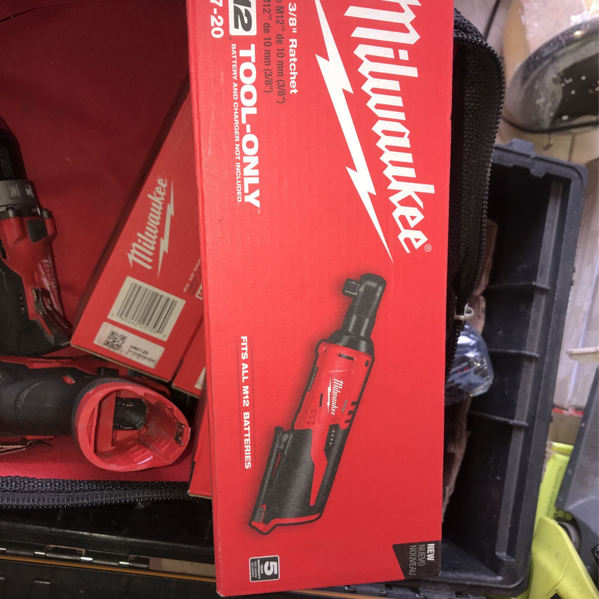 Milwaukee M12 3/8in Ratchet ToolOnly Each $90