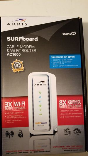 ARRIS SURFboard SBG6700-AC CABLE MODEM&WIFI for Sale in Glens Falls, NY
