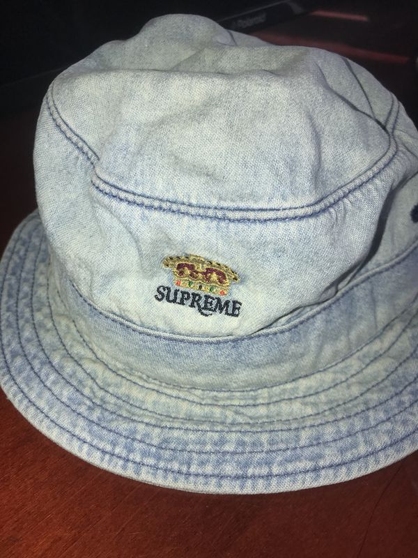 Supreme denim bucket hat crown for Sale in Los Angeles c33a388d045