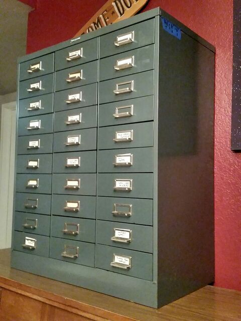 Steelmaster 30 Drawer File Cabinet Apothecary Vintage