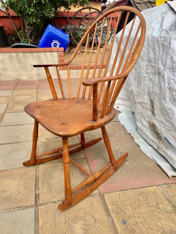Windsor windsor Rocking rocking Chair chair Vintage Antique Small ...