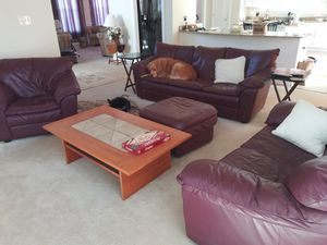 Leather living room set for Sale in Falls Church, VA