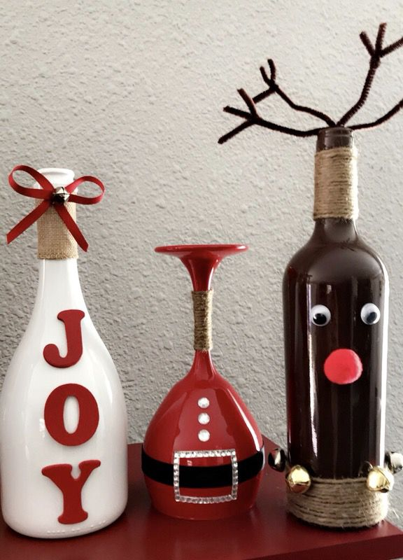 Christmas Decor Wine Bottles And Wine Glasses For Sale In San Antonio Tx Offerup