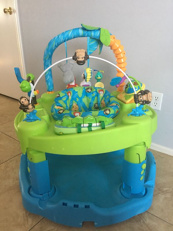 3d6ee2e272a2 Evenflo ExerSaucer Triple Fun Life in the Amazon Activity Learning ...