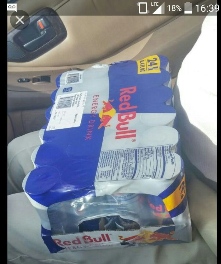 Red bull 24 cans. 8oz cans