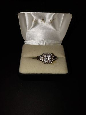 STERLING SILVER Cushion Halo Diamond Engagement Ring for Sale in Manassas, VA