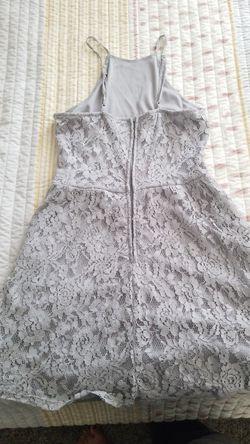 GREY LACED DRESS Thumbnail
