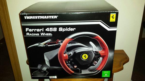 thrustmaster ferrari 458 spider steering wheel xbox one!! brand new