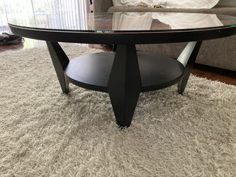 Benjamin Le AXI Furniture Inlaid/dyed Mid-Century Modern Art Coffee Table 42'' Thumbnail