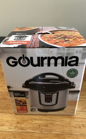 Brand New Gourmia 8 Quart Pressure Cooker for Sale in Santa Monica, CA