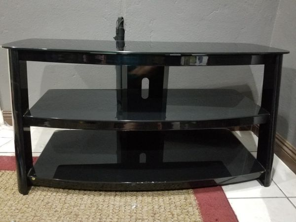 Beautiful Black Metal Glass Tv Stand Great Condition 189 Bestbuy