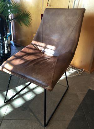 Brown leather/suede side chair for Sale in Washington, DC