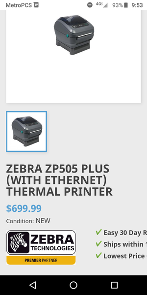 Laser label printer / Zebar zp 505 for Sale in Brooklyn, NY - OfferUp
