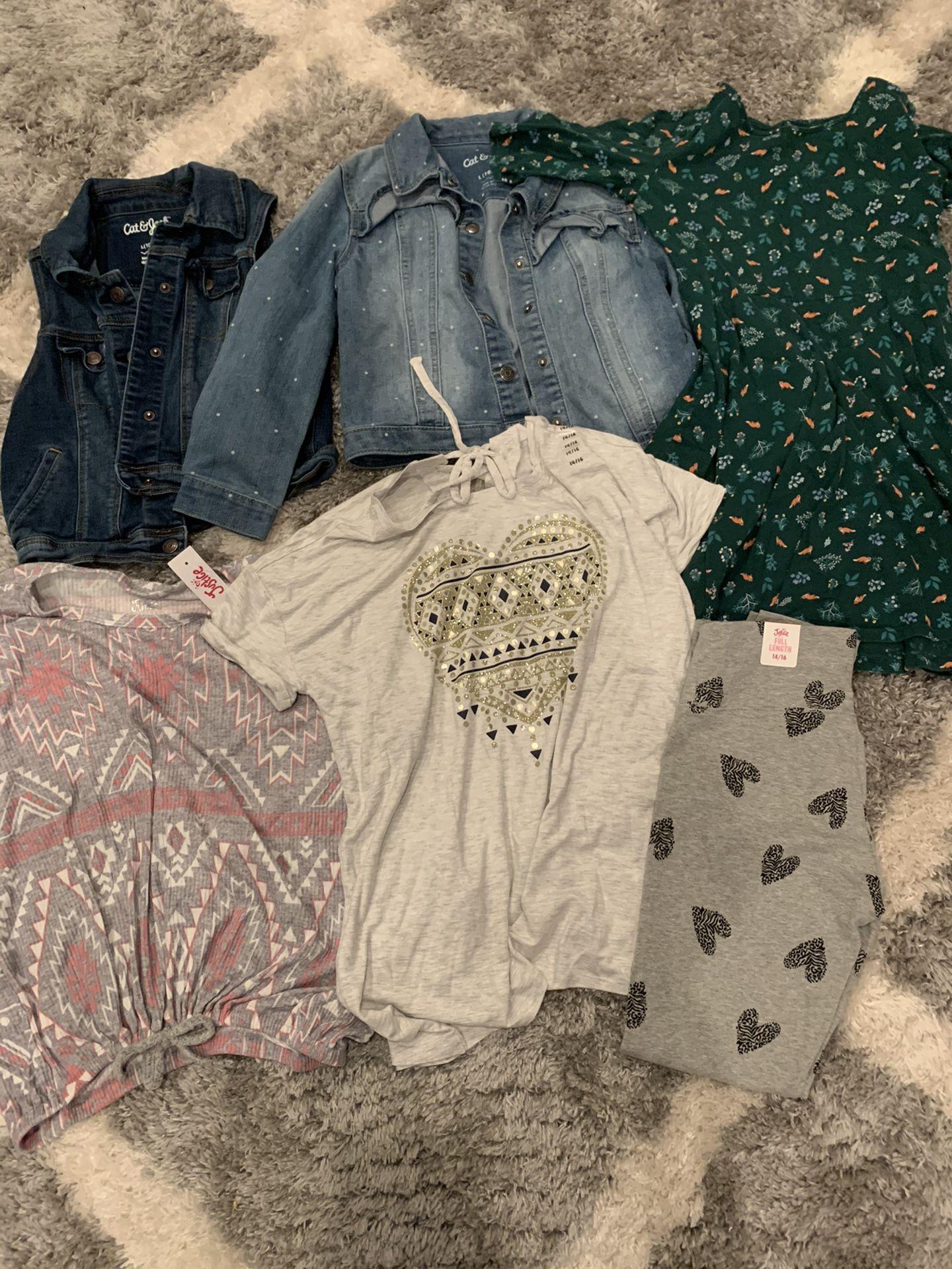 Girls clothing size 10-16